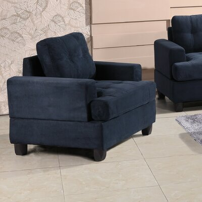 Childress Armchair Upholstery: Navy Blue