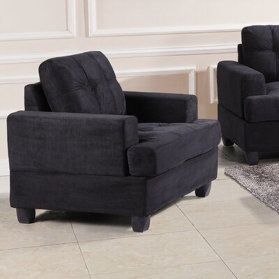 Childress Armchair Upholstery: Black