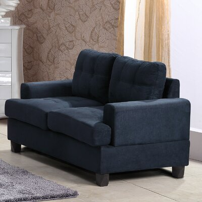 Childress Loveseat Upholstery: Navy Blue