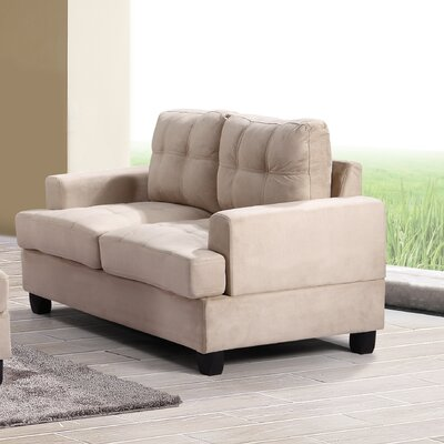 Childress Loveseat Upholstery: Beige
