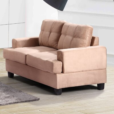 Childress Loveseat Upholstery: Mocha