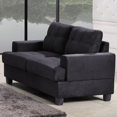 Childress Loveseat Upholstery: Black