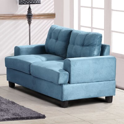 Childress Loveseat Upholstery: Aqua