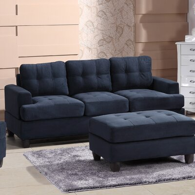 Amberwood Sofa Upholstery: Navy Blue