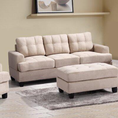 Amberwood Sofa Upholstery: Beige