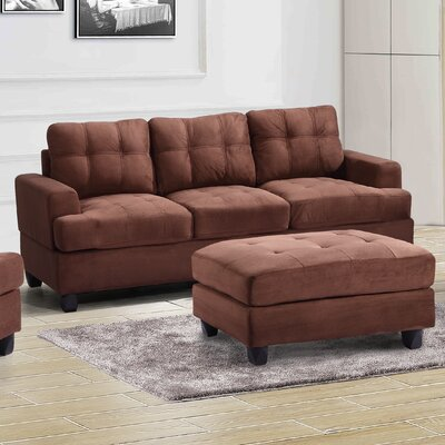 Amberwood Sofa Upholstery: Chocolate