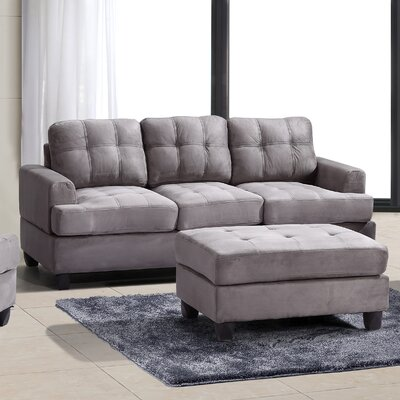 Amberwood Sofa Upholstery: Gray