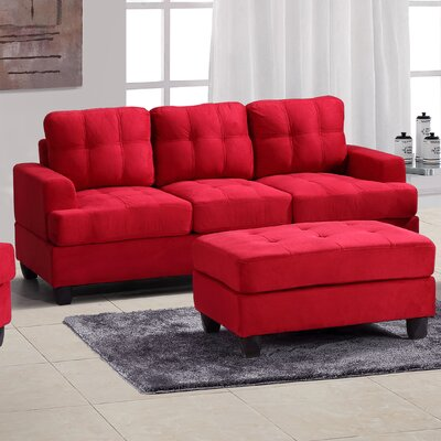 Childress Sofa Upholstery: Red