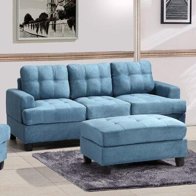 Amberwood Sofa Upholstery: Aqua