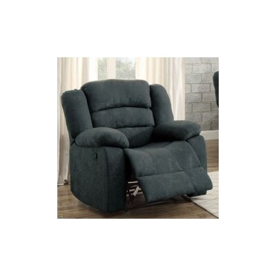Alleyton Power Recline Swivel Recliner Upholstery: Blue Gray