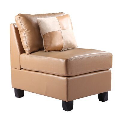 Amberwood Slipper Chair Upholstery Color: Faux Leather - Tan