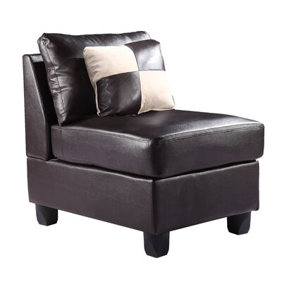 Amberwood Slipper Chair Upholstery Color: Faux Leather - Cappucino