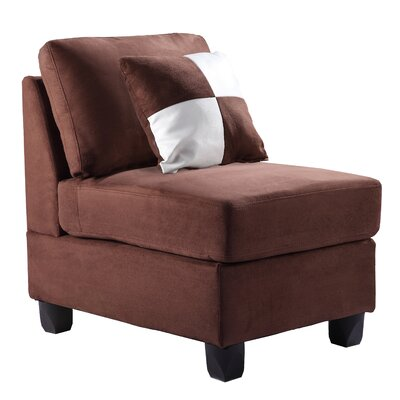 Childress Slipper Chair Upholstery: Micro Suede - Chocolate