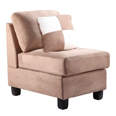 Childress Slipper Chair Upholstery: Micro Suede - Saddle