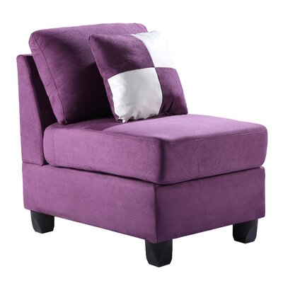 Childress Slipper Chair Upholstery: Micro Suede - Purple