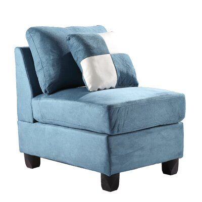 Childress Slipper Chair Upholstery: Micro Suede - Aqua