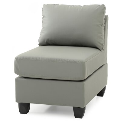 Amberwood Slipper Chair Upholstery Color: Faux Leather- Gray