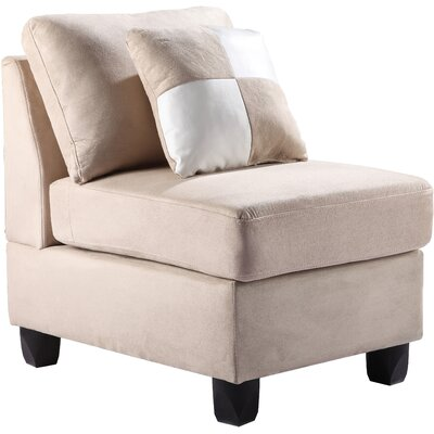 Amberwood Slipper Chair Upholstery Color: Micro Suede - Vanilla