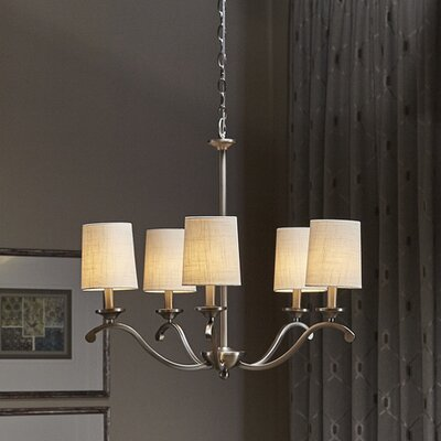 Berkeley 5-Light Shaded Chandelier Finish: Antique Pewter