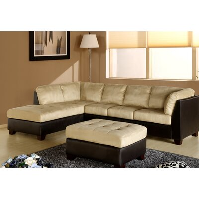 Ranjan Sectional with Ottoman Upholstery: Cream