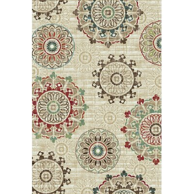 Arbor Lake Cream Area Rug Rug Size: 5 x 8