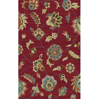 Arbor Lake Red Area Rug Rug Size: 5 x 8