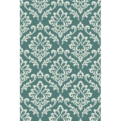 Arbor Lake Blue/Cream Area Rug Rug Size: 5 x 8