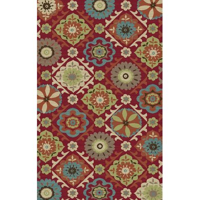 Arbor Lake Red Area Rug Rug Size: 8 x 10