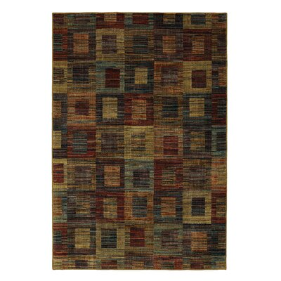 Arpdale Rustic Square Blue/Red Area Rug Rug Size: 5 x 8