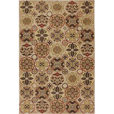 Asherton Floral Quilt Sand/Beige Area Rug Rug Size: 8 x 10