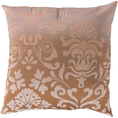 Brownsburg Damask Cotton Throw Pillow Size: 22 H x 22 W x 4 D, Color: Beige, Filler: Down