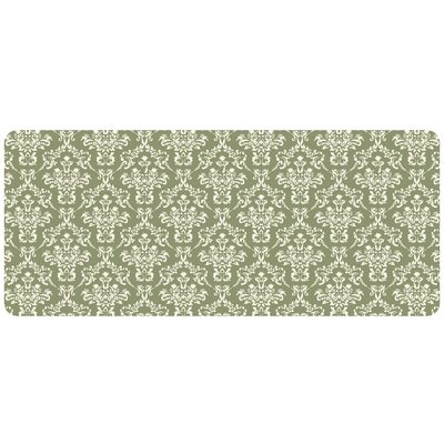 Swofford Kitchen Mat with Rubber Backing Mat Size: 22 x 52, Color: Sage