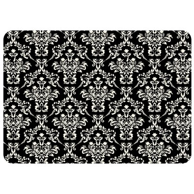 Bulwell Falcon Crest Kitchen Mat Rug Size: 22 x 31, Color: Black Linen