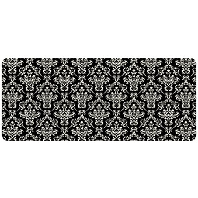 Bulwell Falcon Crest Kitchen Mat Rug Size: 22 x 52, Color: Black