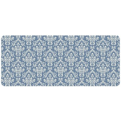 Swofford Kitchen Mat with Rubber Backing Mat Size: 22 x 52, Color: Blue
