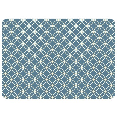 Bulwell Circle Bloom Kitchen Mat Color: Slate Grey, Rug Size: 22 x 31