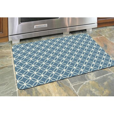 Swofford Circle Bloom Kitchen Mat Mat Size: 22 x 31, Color: Slate Grey