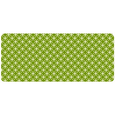 Bulwell Circle Bloom Kitchen Mat Rug Size: 22 x 52, Color: Lime
