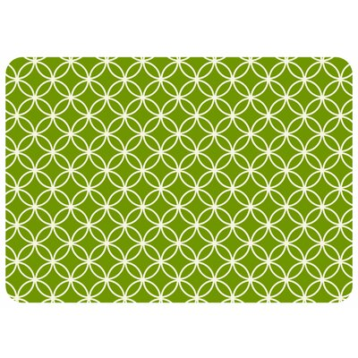 Bulwell Circle Bloom Kitchen Mat Color: Lime, Rug Size: 22 x 31