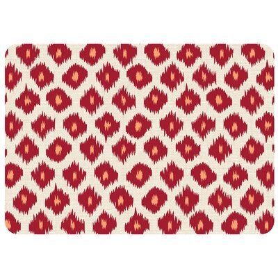 Bulwell Ikat Kitchen Mat Color: Red, Rug Size: 22 x 31