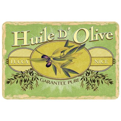 Swofford Olive Oil Label Doormat