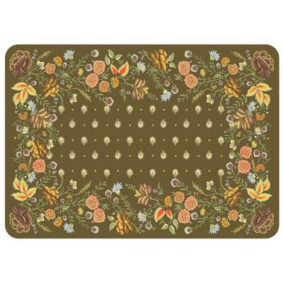 Swofford Floral Kitchen Mat Color: Umber