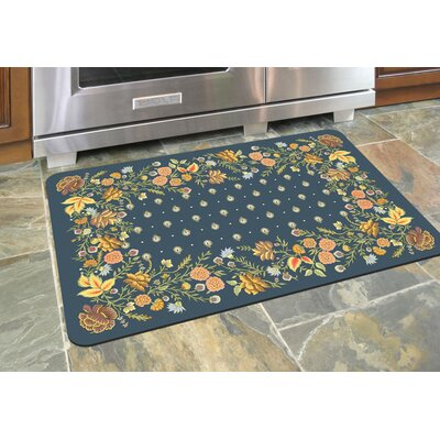 Swofford Floral Kitchen Mat Color: Chambray