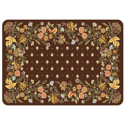 Bulwell Palazzo Kitchen Mat Color: Chocolate