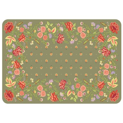 Swofford Floral Kitchen Mat Color: Moss
