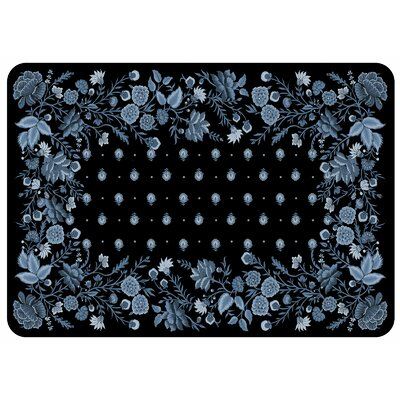 Bulwell Palazzo Kitchen Mat Color: Black Chambray