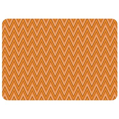 Bulwell Chevron Kitchen Mat Color: Tangerine, Rug Size: 22 x 52