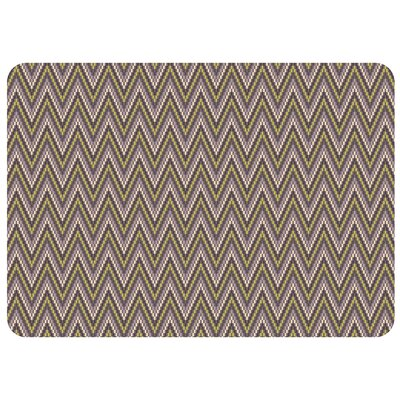 Bulwell Chevron Kitchen Mat Color: Grey, Rug Size: 22 x 31