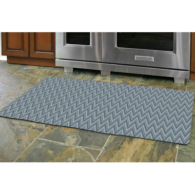 Swofford Chevron Kitchen Mat Mat Size: Rectangle 22 x 52, Color: Gray