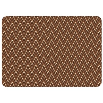 Swofford Chevron Kitchen Mat Mat Size: Rectangle 22 x 52, Color: Russet